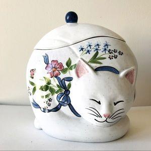 Large Ceramic Cat Storage Canister Cookie Jar